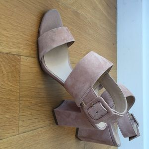 Franco Sarto millennial pale pink suede sandals 9